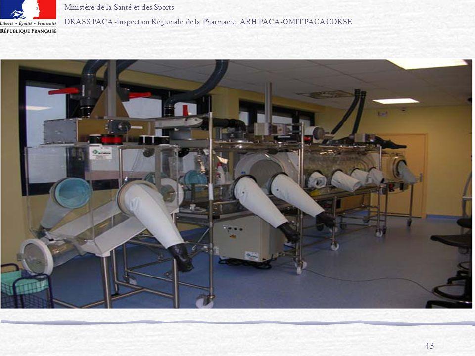 Ministère de la Santé et des Sports DRASS PACA -Inspection Régionale de la Pharmacie, ARH PACA-OMIT PACA CORSE 43