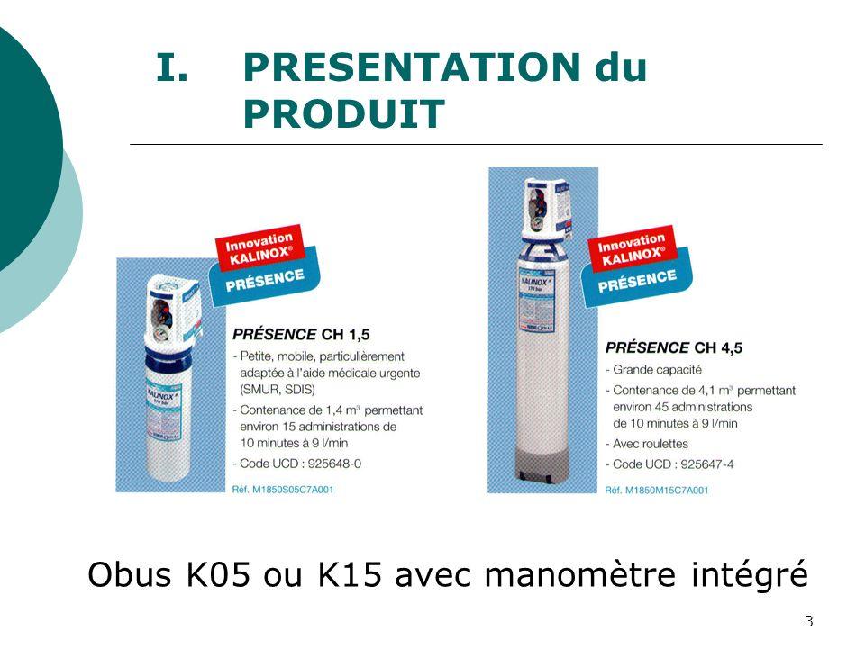 3 Obus K05 ou K15 avec manomètre intégré I.PRESENTATION du PRODUIT