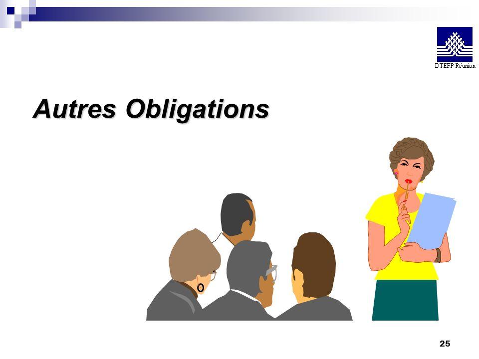 25 Autres Obligations