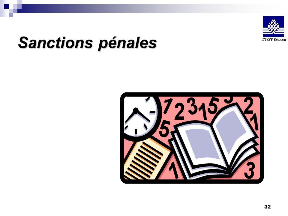 32 Sanctions pénales