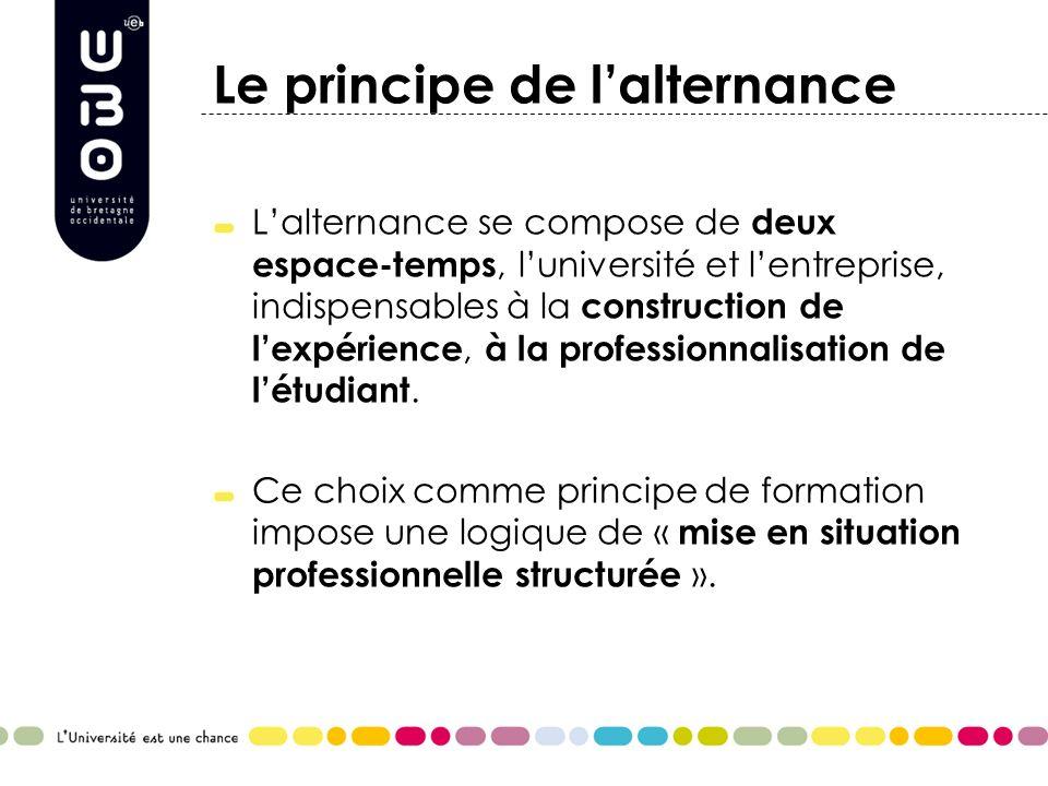 Les atouts de lalternance Diversité des lieux de formation (Entreprise+Université).