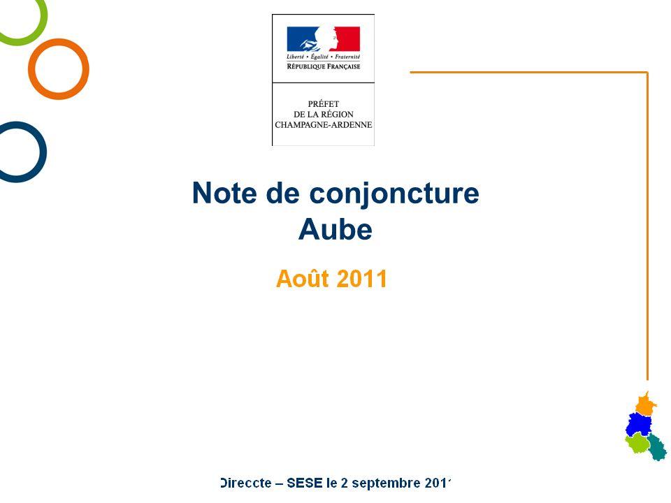 Note de conjoncture Aube
