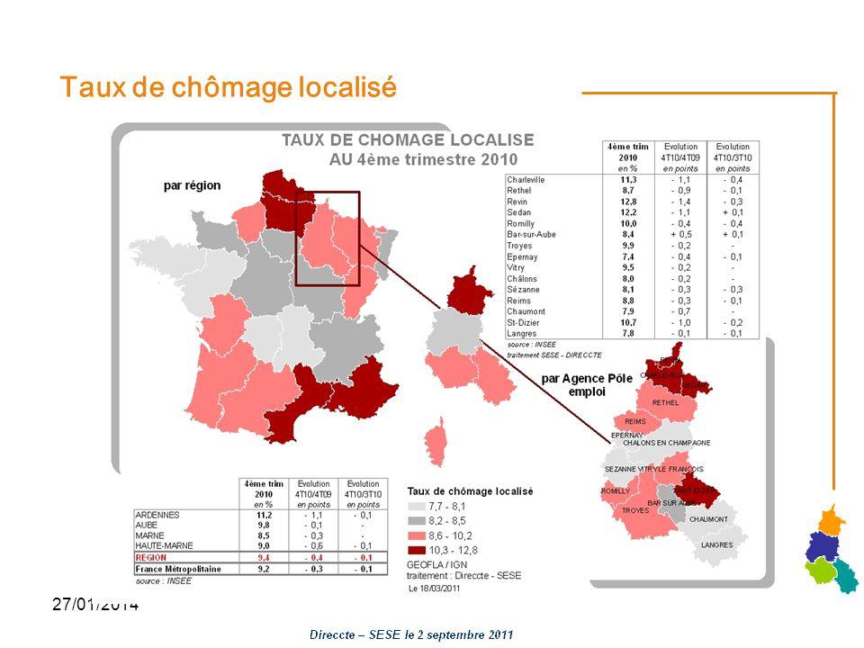 27/01/2014 Taux de chômage localisé