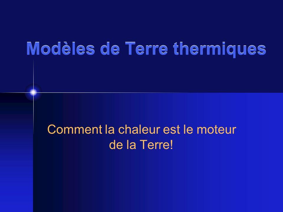 Modèles de Terre thermiques Comment la chaleur est le moteur de la Terre!