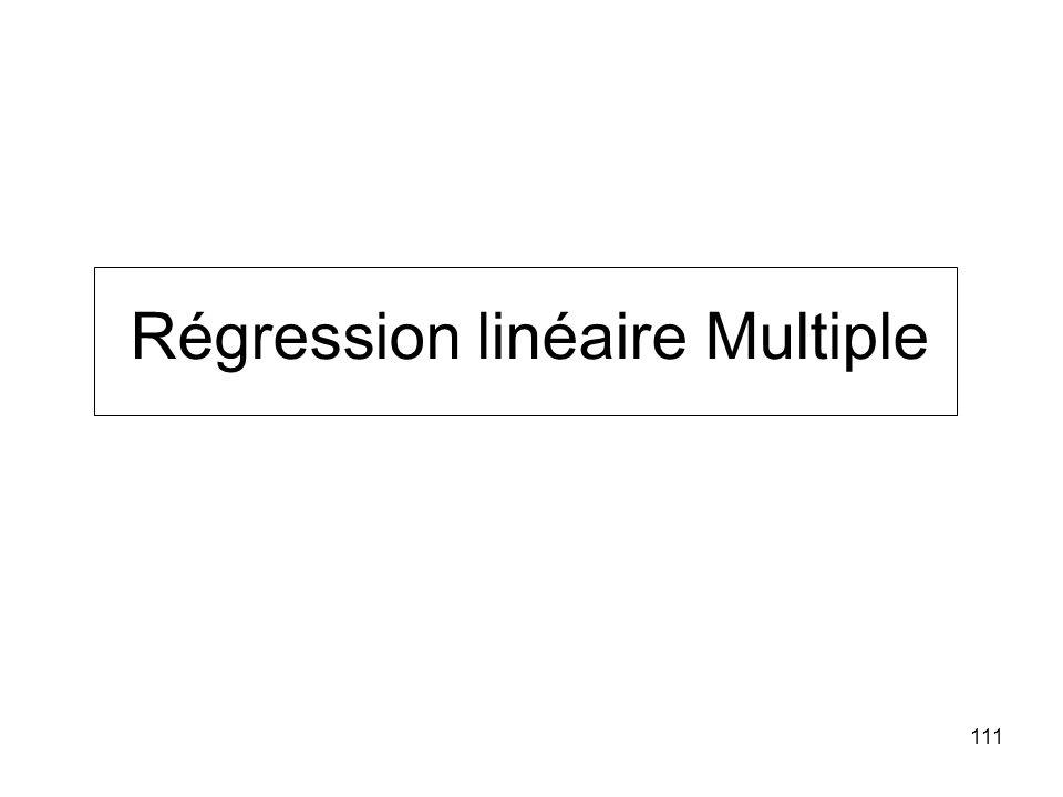 111 Régression linéaire Multiple
