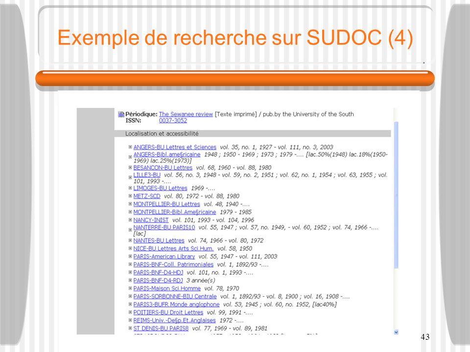 M2-RT - F.-G. Carpentier - 200943 Exemple de recherche sur SUDOC (4)
