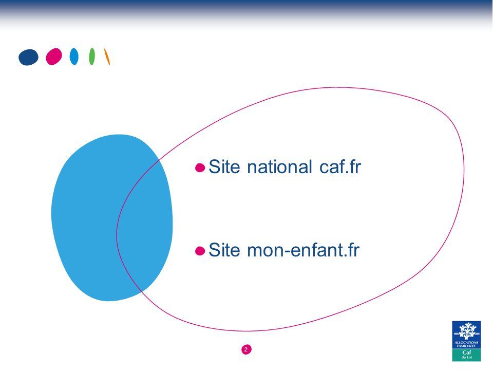 2 Site national caf.fr Site mon-enfant.fr
