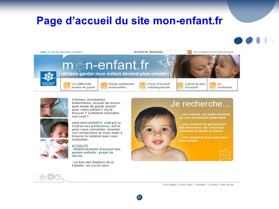 27 Page daccueil du site mon-enfant.fr