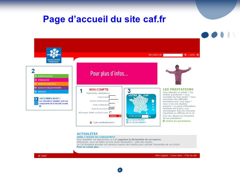 4 Page daccueil du site caf.fr 2 31