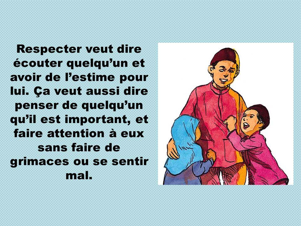 Allah explique dans le Saint Qour àne (2:83) quil faut LObéir, Lui et respecter nos parents.