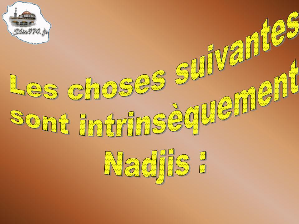 Par conséquent, une chose Nadjis qui est sèche ne peut pas rendre Nadjis une autre chose par contact.