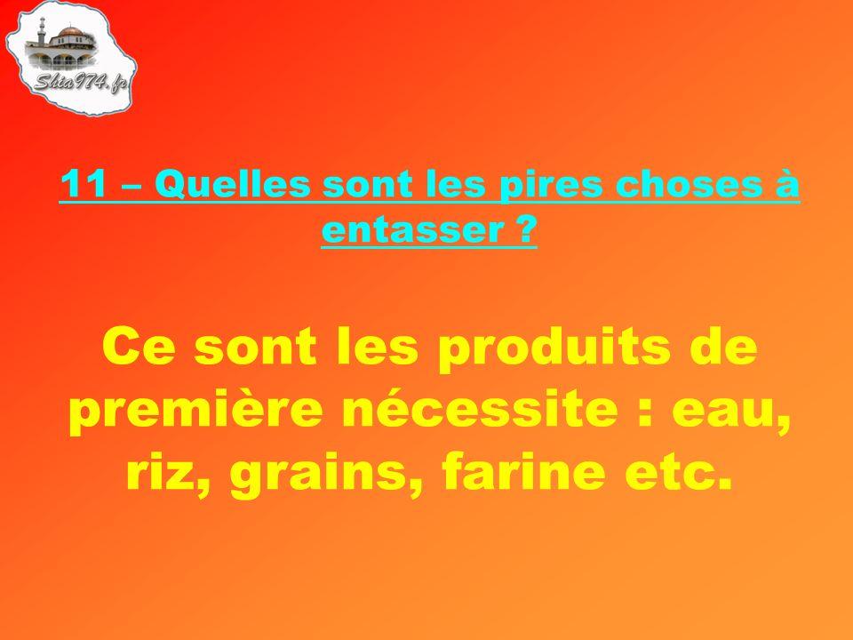 Ce sont les produits de première nécessite : eau, riz, grains, farine etc.