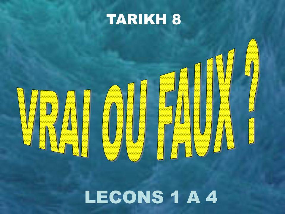 TARIKH 8 LECONS 1 A 4