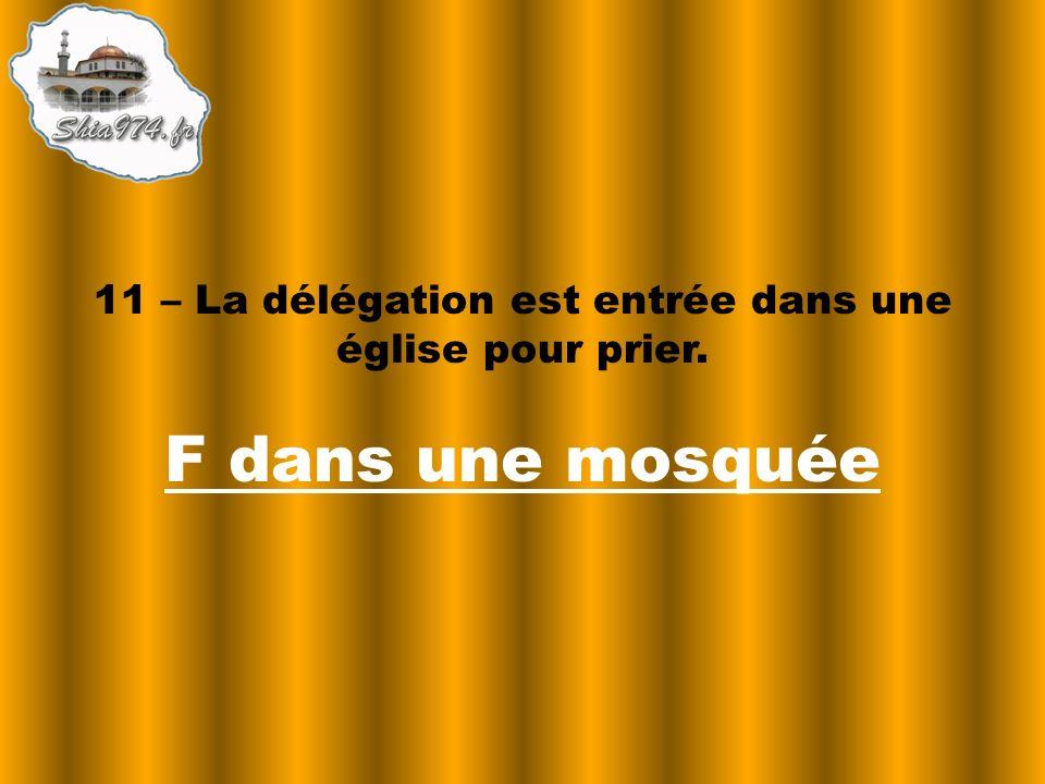 F dans une mosquée