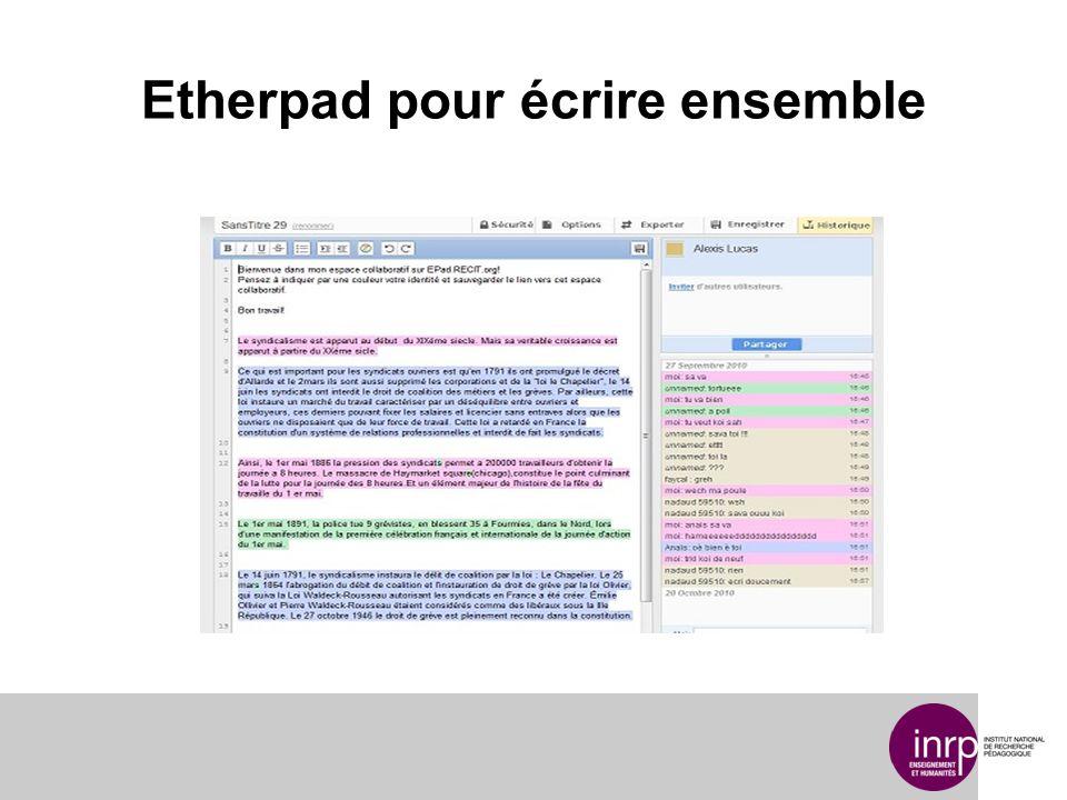 Etherpad pour écrire ensemble
