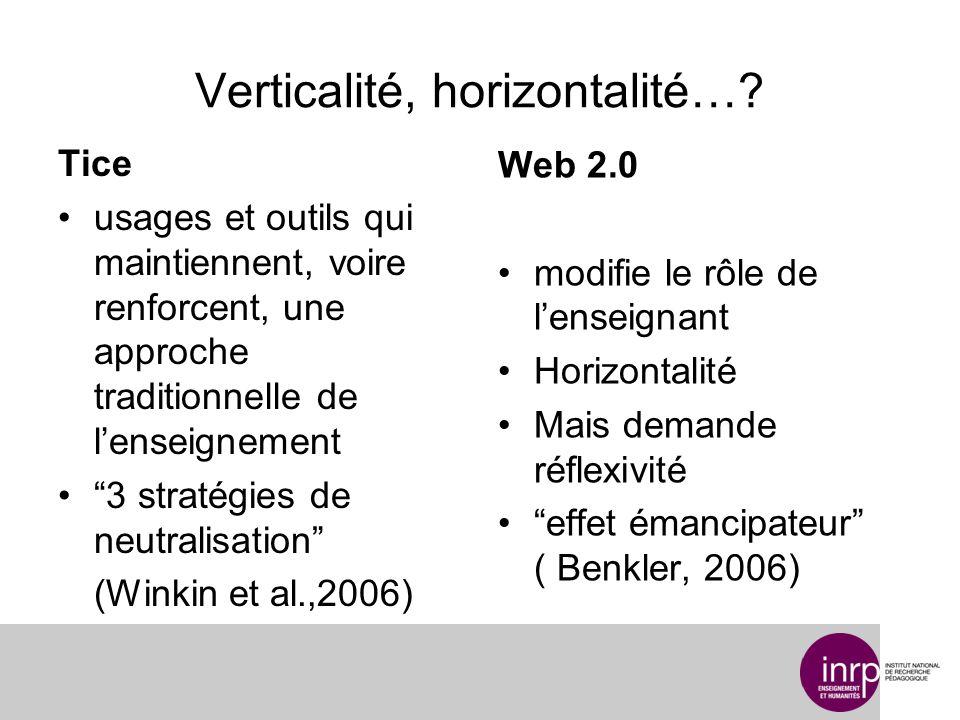 Verticalité, horizontalité….