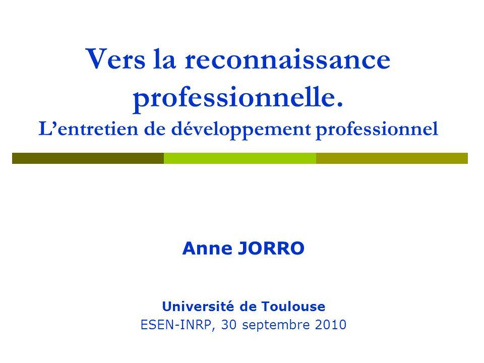 La reconnaissance professionnelle… La reconnaissance professionnelle… Analyser – Interpréter – Dialoguer - Instituer autoévaluation de coélaboration de l activité professionnelle pistes de travail