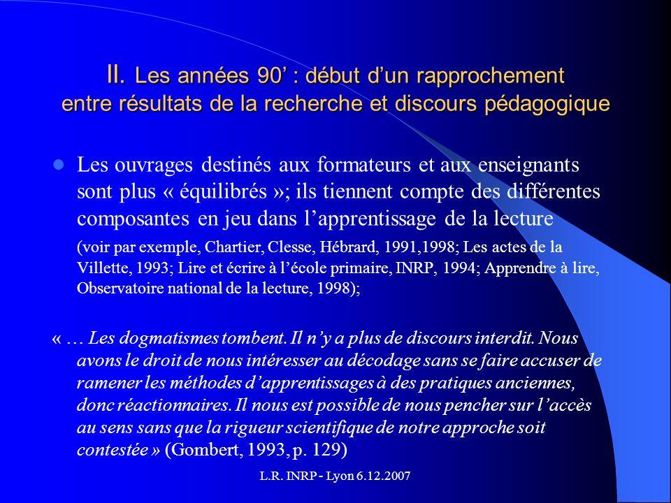 L.R. INRP - Lyon 6.12.2007 II.