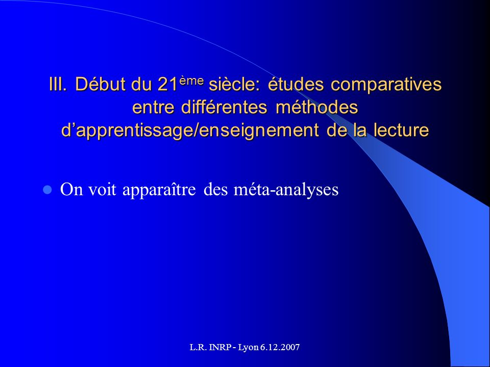 L.R. INRP - Lyon 6.12.2007 III.