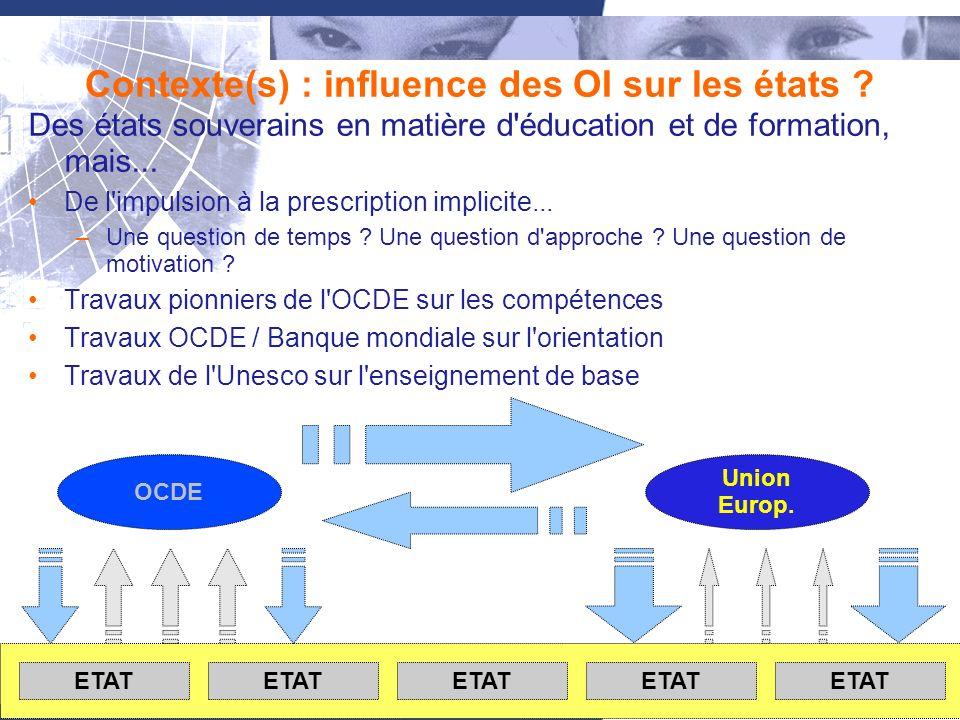 3 Contexte(s) : influence des OI sur les états .