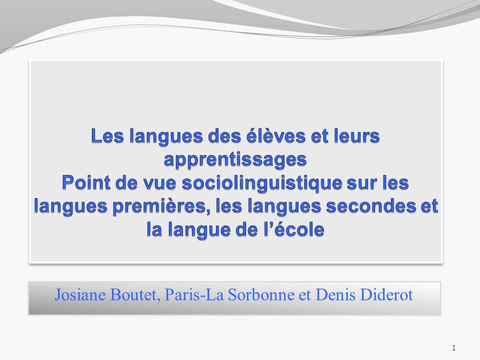 Josiane Boutet, Paris-La Sorbonne et Denis Diderot 1