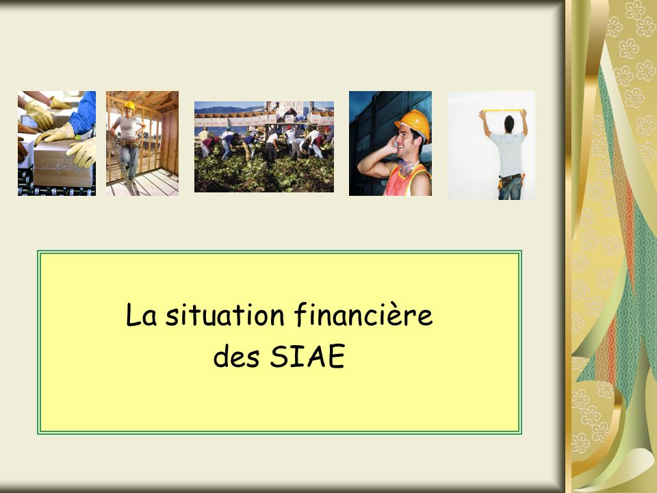 La situation financière des SIAE