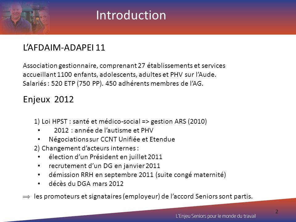 2 LAFDAIM-ADAPEI 11 Association gestionnaire, comprenant 27 établissements et services accueillant 1100 enfants, adolescents, adultes et PHV sur lAude
