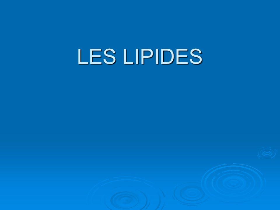 LES LIPIDES