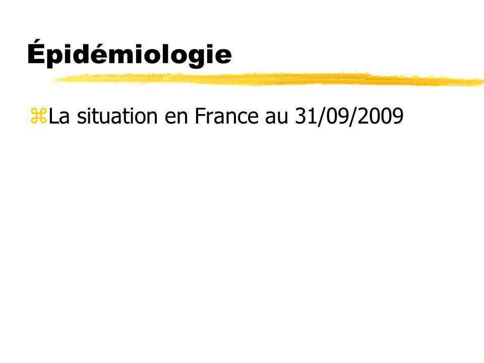 Épidémiologie zLa situation en France au 31/09/2009