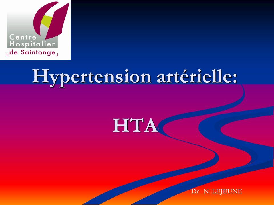 Hypertension artérielle: HTA Dr N. LEJEUNE