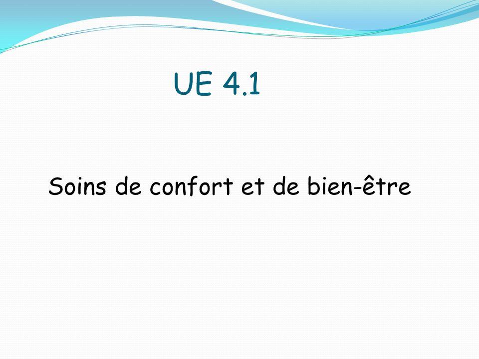 UE 4.1 Soins de confort et de bien-être