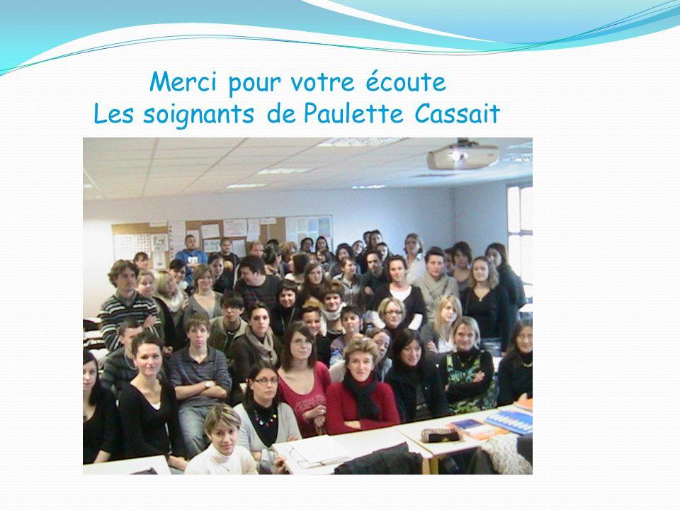 Merci pour votre écoute Les soignants de Paulette Cassait