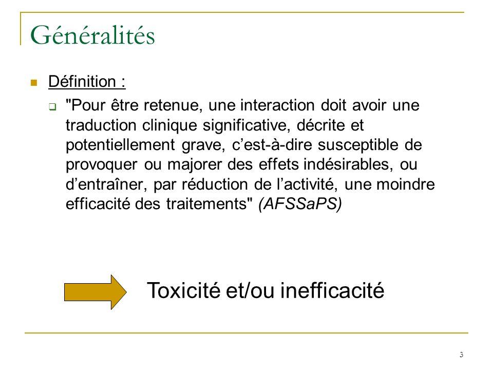 Interactions pharmacocinétiques Distribution Rappels sur la distribution : Les médicaments existent sous deux formes dans le sang : fraction libre et fraction liée aux protéines plasmatiques.