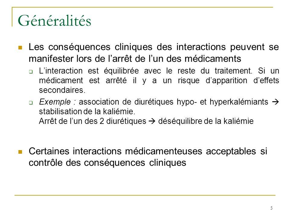 Classification des interactions Contre-indication Elle revêt un caractère absolu et ne doit pas être transgressée.