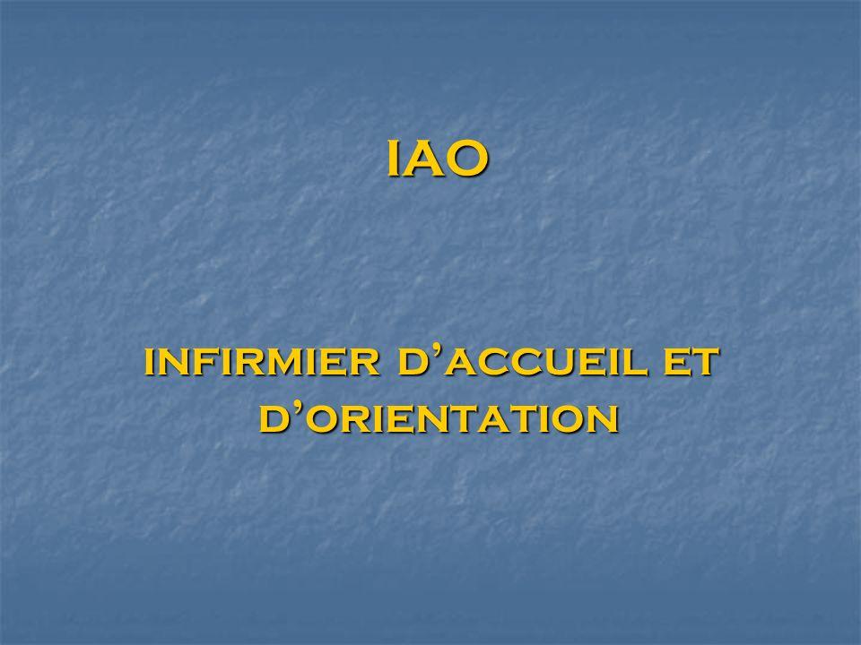 IAO IAO infirmier daccueil et dorientation infirmier daccueil et dorientation