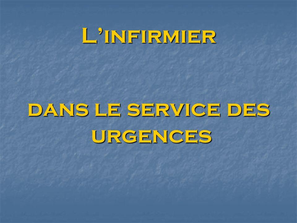 Linfirmier dans le service des urgences dans le service des urgences
