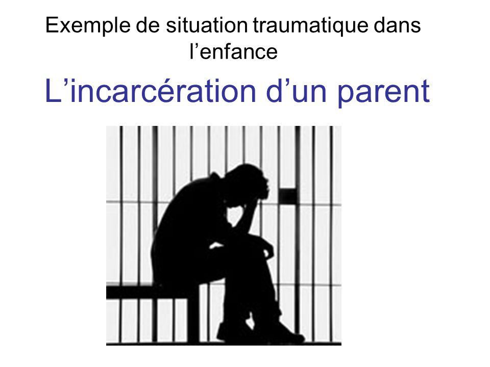 Exemple de situation traumatique dans lenfance Lincarcération dun parent