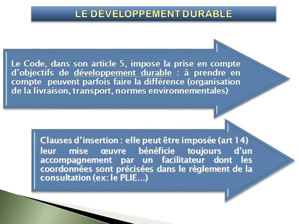Clauses dinsertion : elle peut être imposée (art 14) leur mise œuvre bénéficie toujours dun accompagnement par un facilitateur dont les coordonnées so
