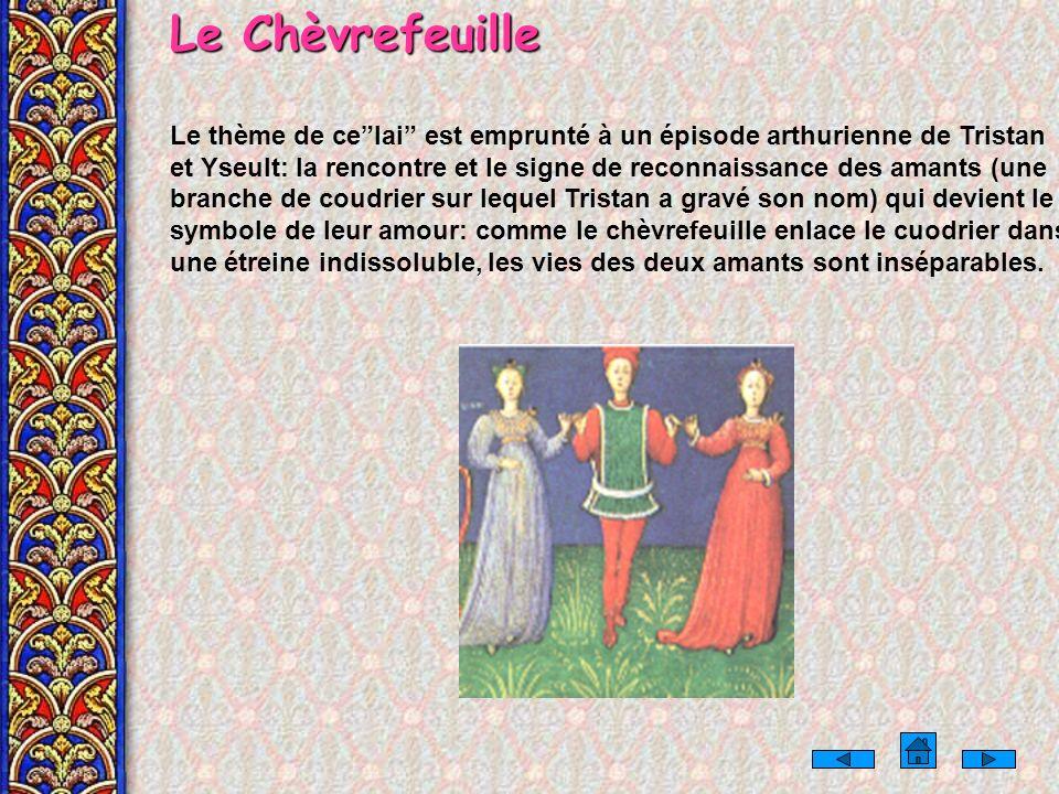MARIE de FRANCE LA VIE, LES OEUVRES Marie de France est la première représentante de la littérature courtoise puisée dans la matière de Bretagne. Née
