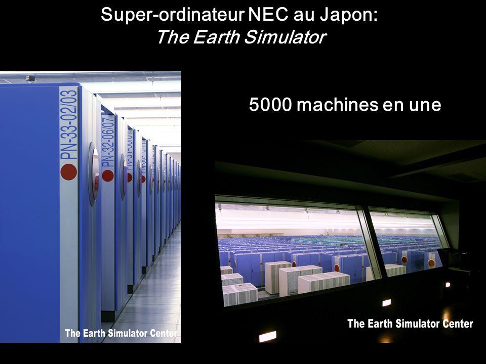 Super-ordinateur NEC au Japon: The Earth Simulator 5000 machines en une