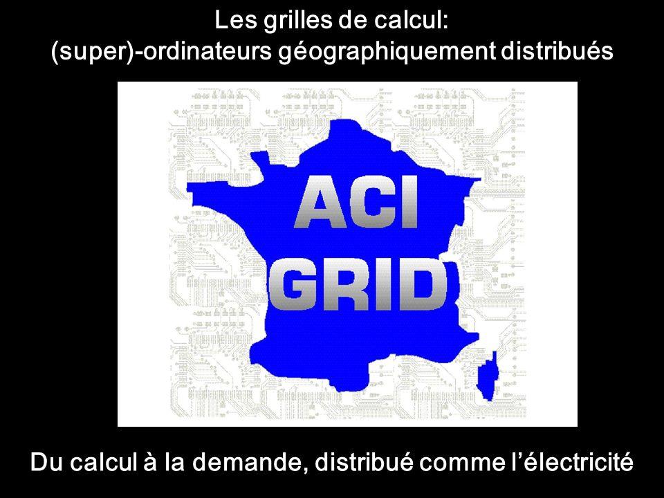 Les grilles de calcul: (super)-ordinateurs géographiquement distribués Du calcul à la demande, distribué comme lélectricité