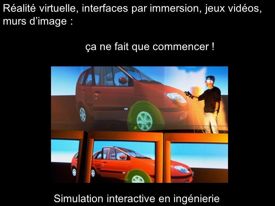 Réalité virtuelle, interfaces par immersion, jeux vidéos, murs dimage : ça ne fait que commencer ! Simulation interactive en ingénierie