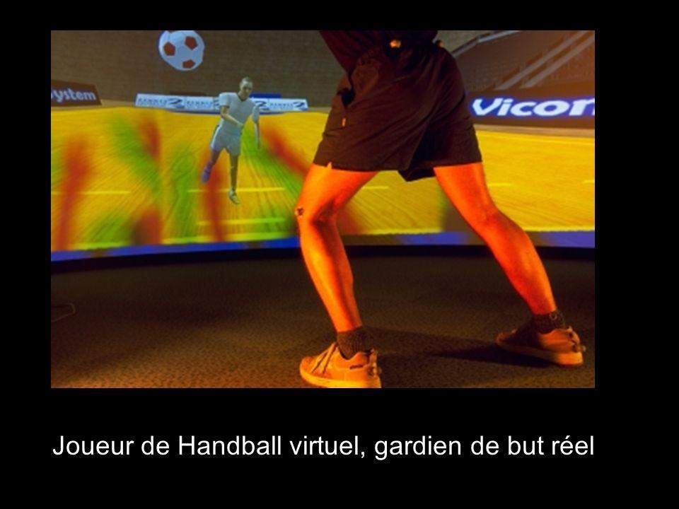 Joueur de Handball virtuel, gardien de but réel
