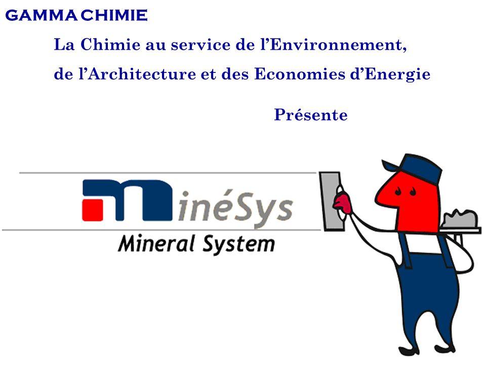 GAMMA CHIMIE - Minéralisation1 Présente GAMMA CHIMIE La Chimie au service de lEnvironnement, de lArchitecture et des Economies dEnergie