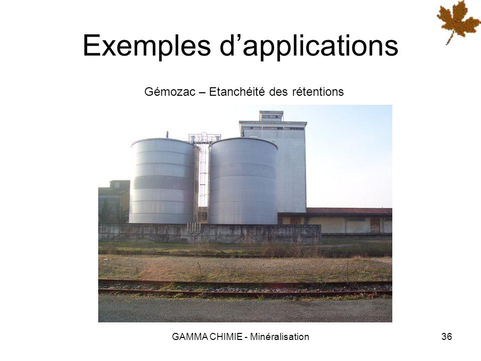 GAMMA CHIMIE - Minéralisation35 Exemples dapplications Siège de lOCDE (Paris) - Façade en pierre de Saint-Maximin