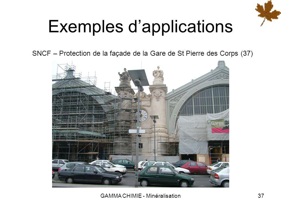 GAMMA CHIMIE - Minéralisation36 Exemples dapplications Gémozac – Etanchéité des rétentions