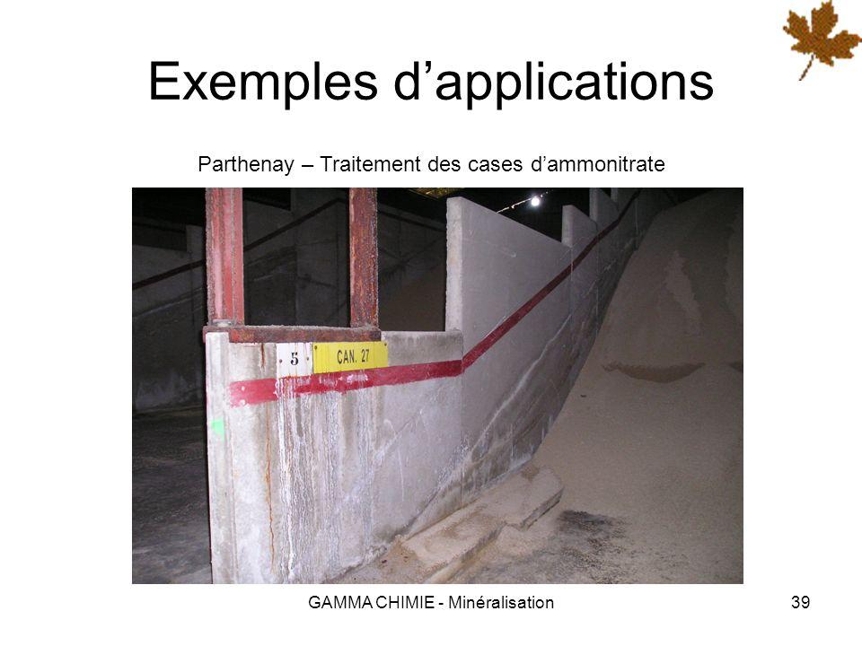 GAMMA CHIMIE - Minéralisation38 Exemples dapplications Tahiti – Consolidation et imperméabilisation dinfrastructures souterraines