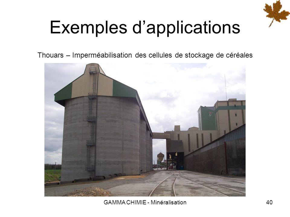 GAMMA CHIMIE - Minéralisation39 Exemples dapplications Parthenay – Traitement des cases dammonitrate