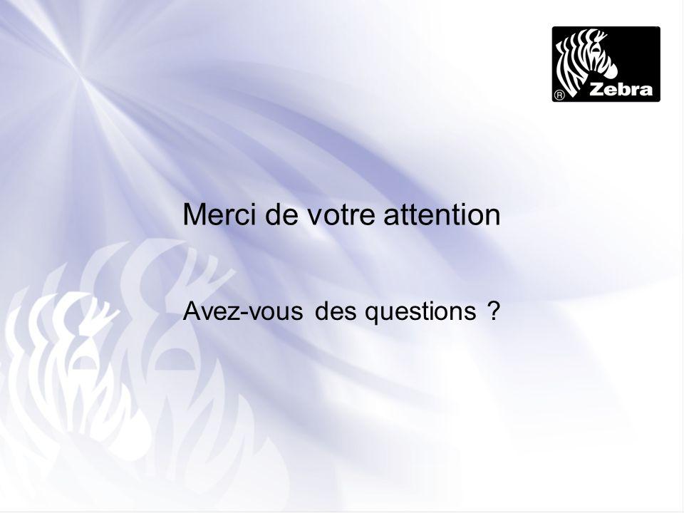 Merci de votre attention Avez-vous des questions ?