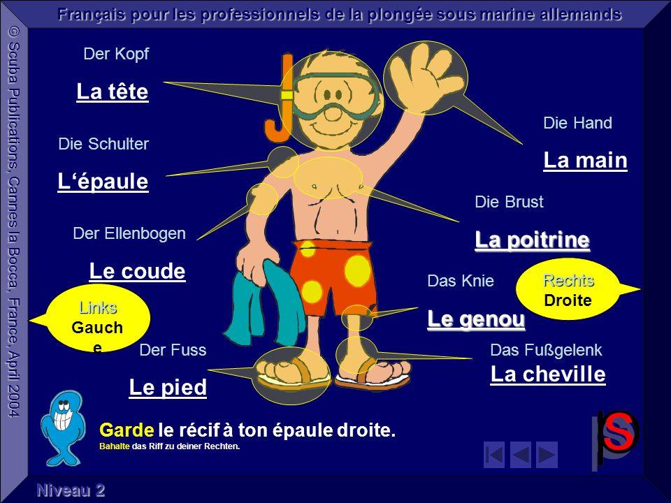 © Scuba Publications, Cannes la Bocca, France, April 2004 Français pour les professionnels de la plongée sous marine allemands Niveau 1 Bienvenue .